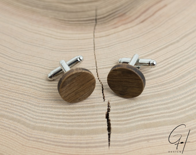 Cufflinks from the ancient beer barrel