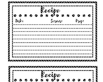 Recipe Card Polk Dots |Instant Download