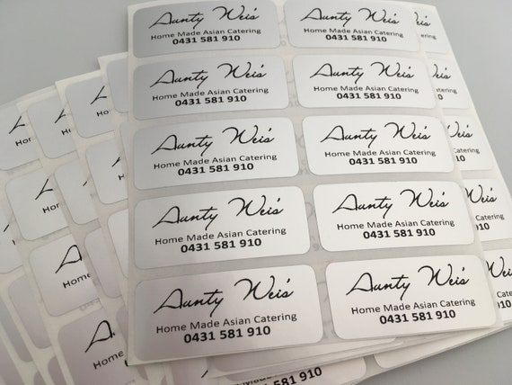 Custom Clear Silver Company Labels Product Labels Promotional Labels