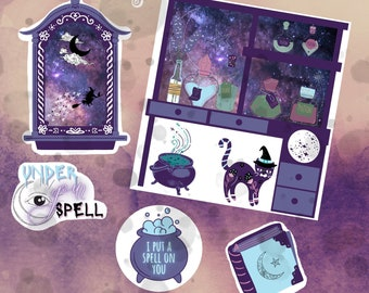 Witchy Sticker Set | Clear Vinyl