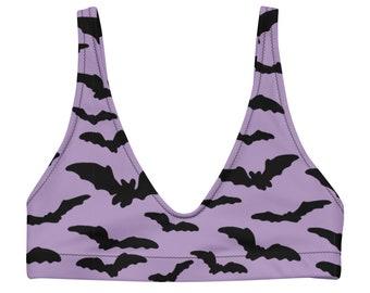 Purple Bat Bikini Top - Size XS-3XL