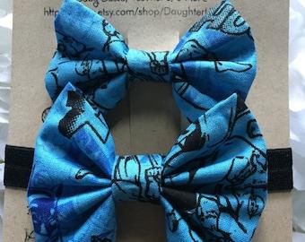 DC Superheroes Headband & Bow Set
