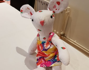 strawberries easter bunny rabbit plush gift