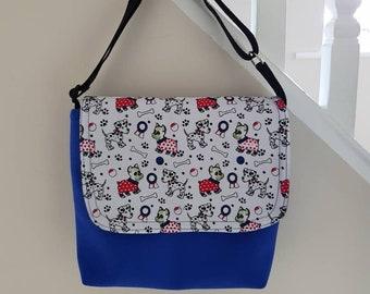 Cute dog pattern child's/small school messenger  bag