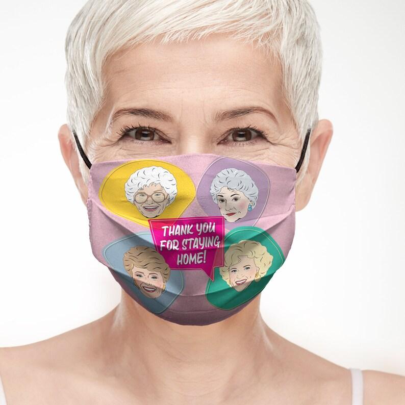 Golden Girls Face Mask Pocket for replaceable filter image 0