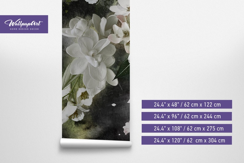 Wall Mural Spring Flowers Spring Flowers Peel and Stick Wallpaper Vintage Flowers Removable Wallpaper 86 Removable Wall Mural