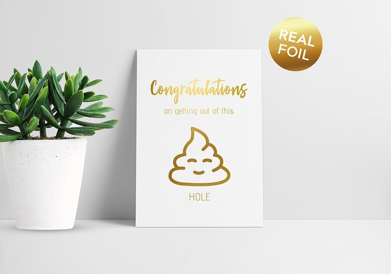 A5 large card  Funny New Job Card  Congratulations on image 0