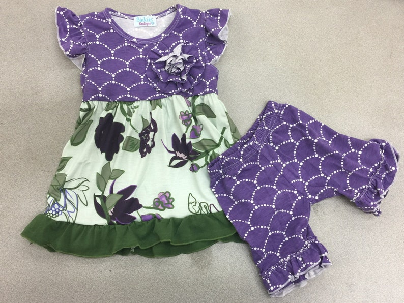 cc7c966660f Purple Floral Icings Girls Boutique Dress 16 Baby girls