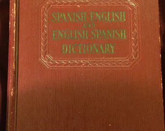 Spanish to English dictionary copyright 1942