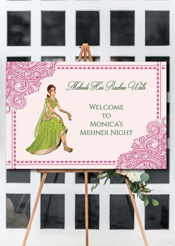 Mehndi Night Welcome Sign