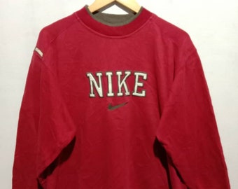 44ef13e93a vintage nike small swoosh - spellout - pullover jumper - medium mens size