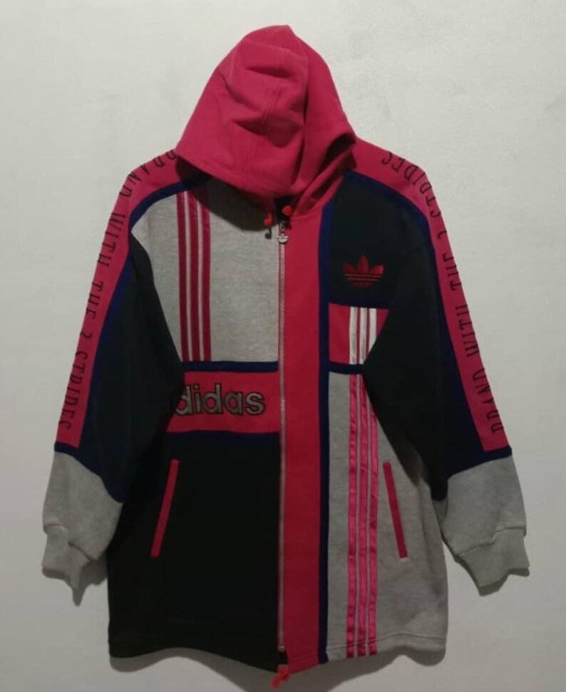 sale retailer 4ae4c 350da Rare Vintage 90s adidas hoodie small logo spellout   Etsy