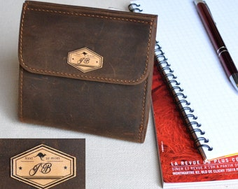 Personalized Wallet  -Genuine Leather-