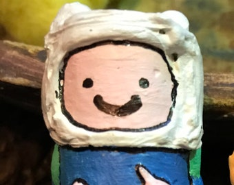 Handmade and painted Adventute time Fin