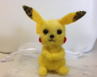 Handmade felted Pikachu