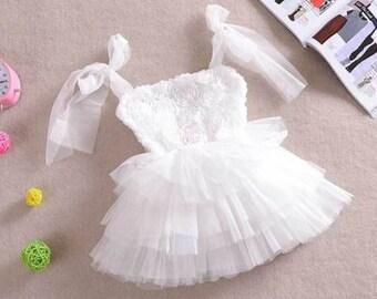 White Ruffle Fairy Dress