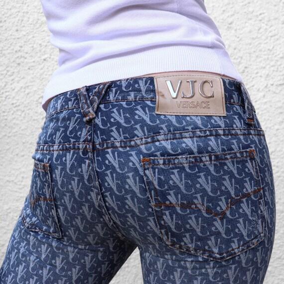 VERSACE denim two piece monogram suit UK6 - image 2