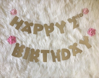 Paper flowers/paper mache number/second birthday/photo | Etsy