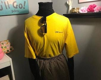 Reebok Yellow Short Sleeve T Shirt