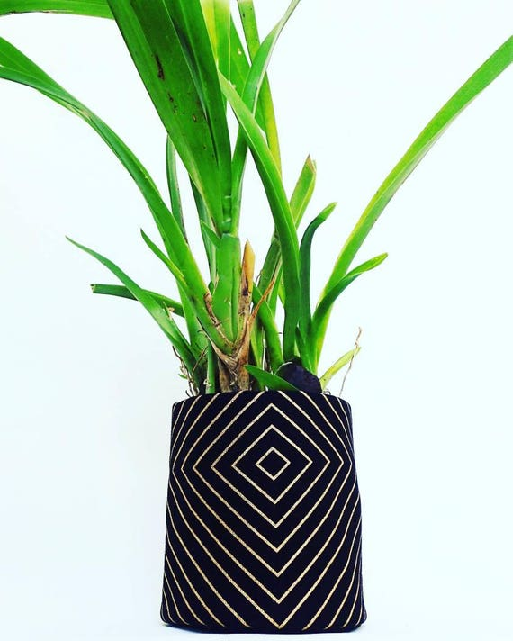Tissu Cache Pot Panier De Rangement Pot De Plante Etsy