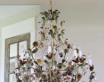 Tole chandelier etsy aloadofball Images