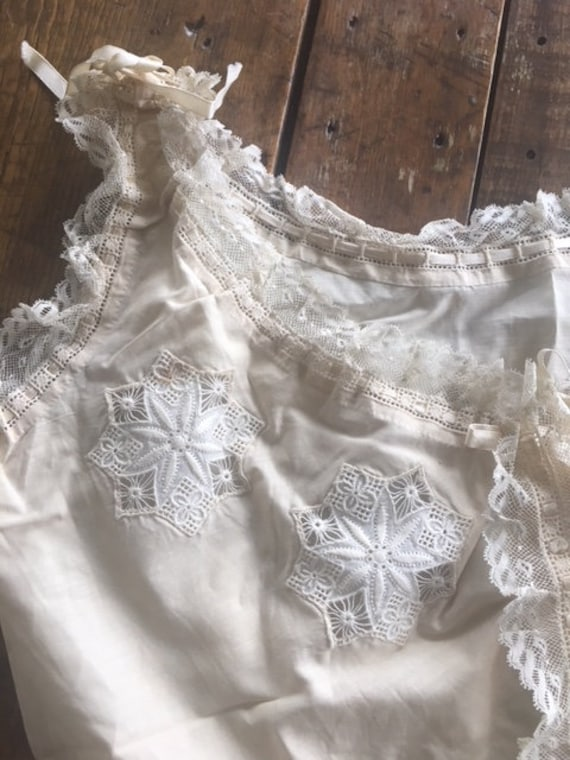 Lovely French Antique Lingerie Camisole Handmade … - image 3