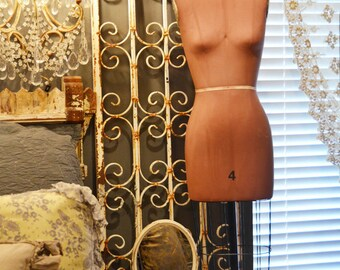Rare Vintage Cage Bottom Dress Form Mannequin