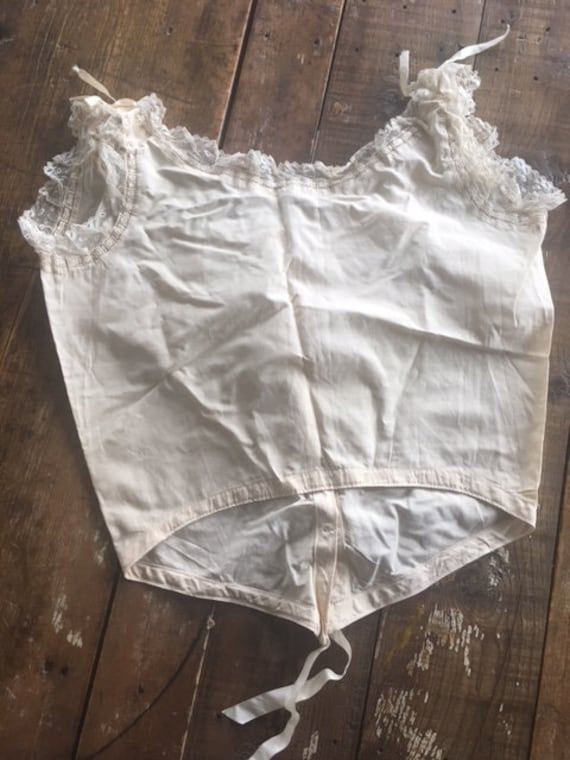 Lovely French Antique Lingerie Camisole Handmade … - image 4