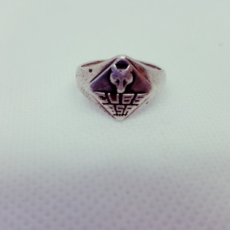 Vintage Sterling Silver Cub Scout Ring Size 5