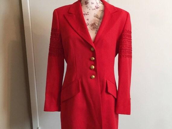 Escada Margaretha Ley red coat.