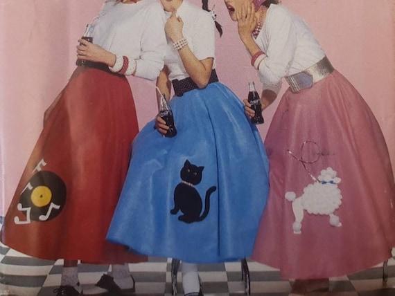 Vintage Jerry Beck High Waisted Poodle Skirt.-V3.