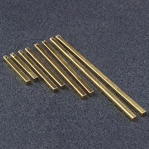 Solid Brass,HT115 Earring 20pcs Raw Brass Round Bar Long Stick Bar Pendants Tiny Necklace Bar Brass Bar Charms Connectors Bar,Necklace