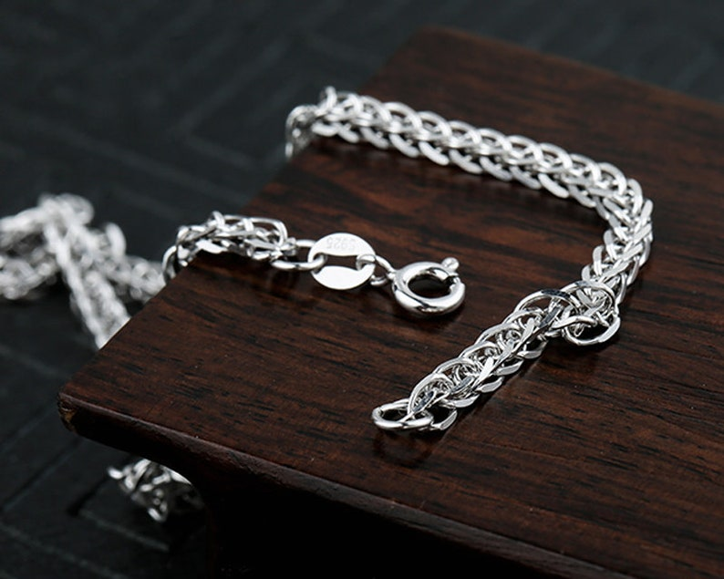 Round buckle Clip,Jewelry Supplies,200 925 Silver Finished Necklace Chain Handmade Chain,Bulk Chain 3.5mm 925 Silver Simple Thin Chain