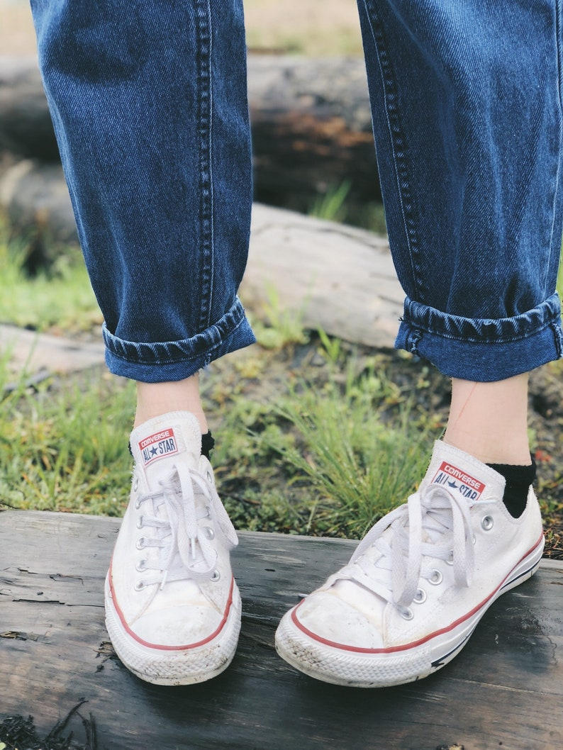 Vintage Lee Riders  High Waisted  Mom Jeans  Medium Denim
