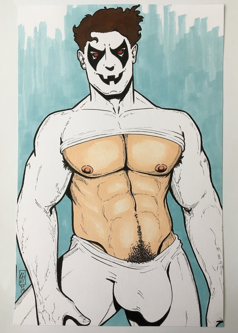 Gay Male Art Mature Content Ghostboy Sexy Gay Comic Character Etsy