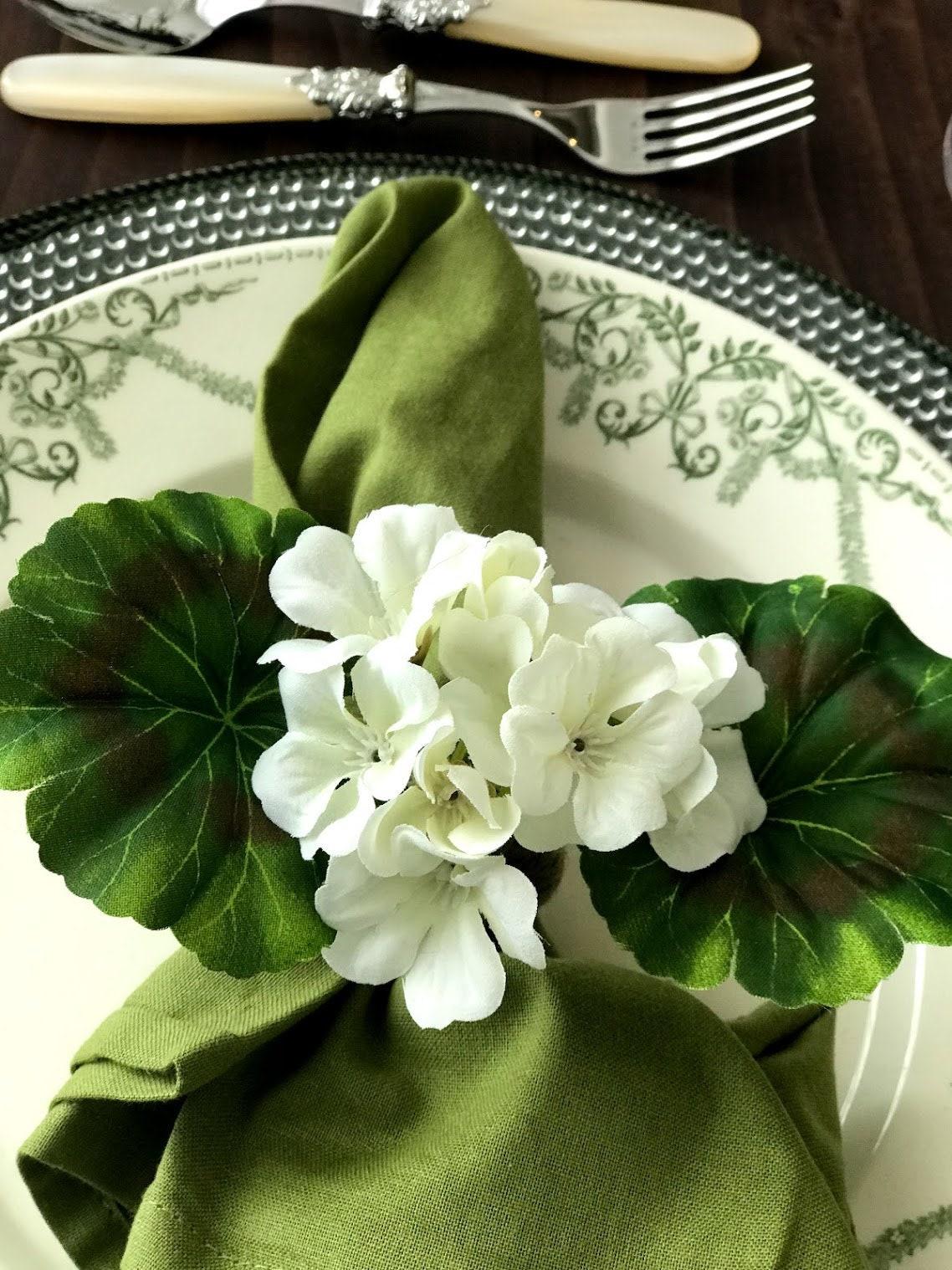 Bridal Orchid Napkin Ring