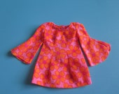 Vintage Talking PJ Mini Floral Dress 1113 - Vintage Barbie Dress - Mod Era Barbie
