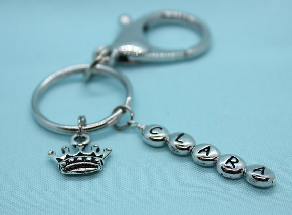 Crown Keychain, Custom Crown Keyring,  Princess Crown Keyring, Car Accessory, Backpack Tag Girl, Princess Charm