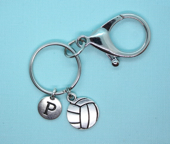Volleyball Keychain, Stainless Steel Keychain, Volleyball Charm, Volleyball Key Chain, Volleyball Keyring, Sports Keychain, Backpack Tag