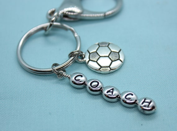 Soccer Coach Gift, Soccer Team Gift, Soccer Keychain Personalized, Soccer Ball Charm, Custom, Soccer Keyring, Sports, Backpack Tag