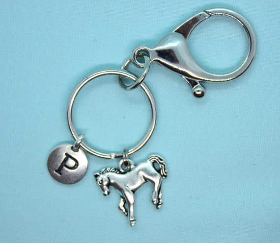 Horse Keychain Personalized, Stainless Steel Key Ring Custom, Western Charm, Build a Keychain, Western Keyring, Cowboy Keyring, Backpack Tag