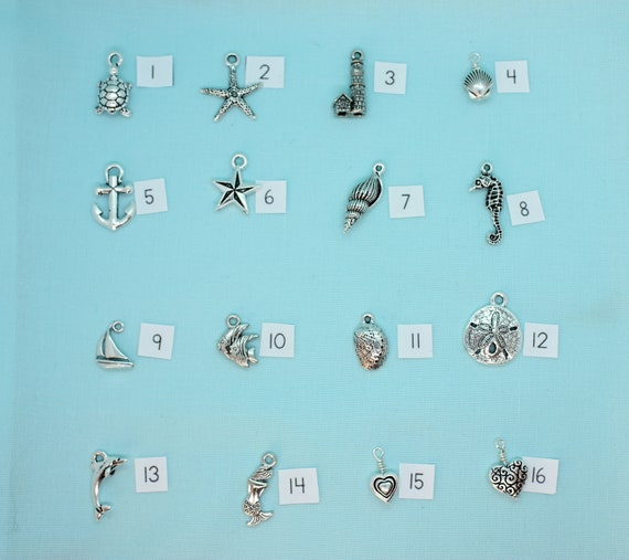 Add-on Charm, Build-a-Bracelet, Custom Zipper-Pull, Silver Nautical Charm, Keychain Personalized, Custom Key Ring, Backpack Tag, Purse Tag