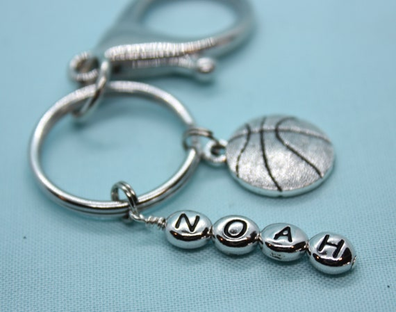 Basketball Keychain Personalized, Key Ring Custom, Basketball Charm, Coach Gift, Custom Basketball Keyring, Sports Backpack Tag, Zipper Pull