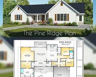 Pine Ridge House Plan, 2568 Square Feet