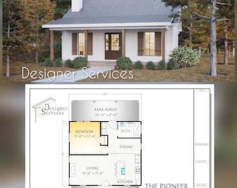 Pioneer Plan, 700 square Feet