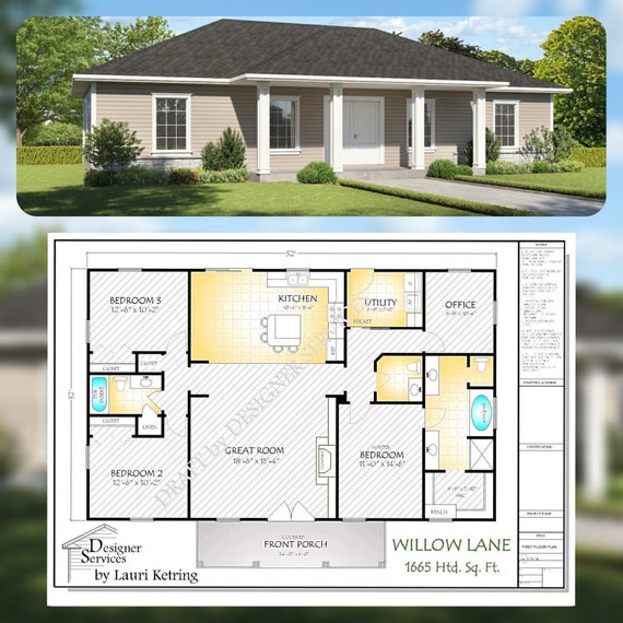 The Willow Lane House Plan, Hip Roof Option on 1500 sq ft. house plans, 1600 square foot open floor plan, 1600 square feet look like, 1600 sq ft cottage plans, beach house plans, 1600 square foot home, 1600 square foot floor plan template, 1600 ft floor plans,