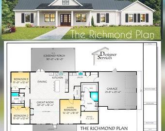 Richmond House Plan, 2160 Square Feet