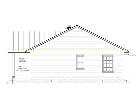 The Willow Lane House Plan, Gable Roof Option on