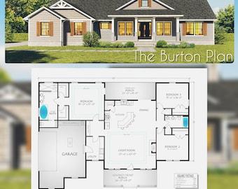 Burton Home Plan,  2038 Square Feet