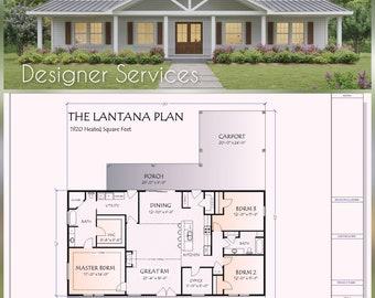 Lantana House Plan,  1920 Square Feet
